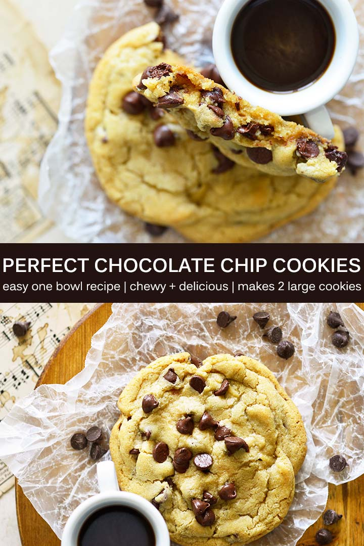 Single Serving Chocolate Chip Cookie Recipe Pin