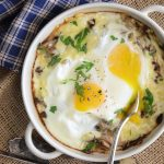 Baked Eggs with Mushrooms and Cheese Featured Image