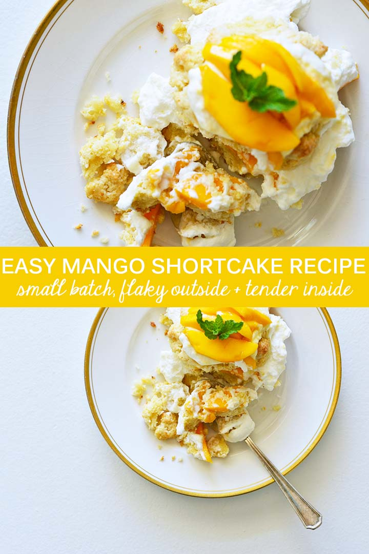 Easy Mango Shortcake Recipe Pin