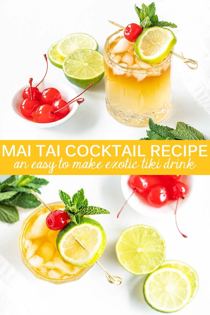 Mai Tai Cocktail Recipe Pin
