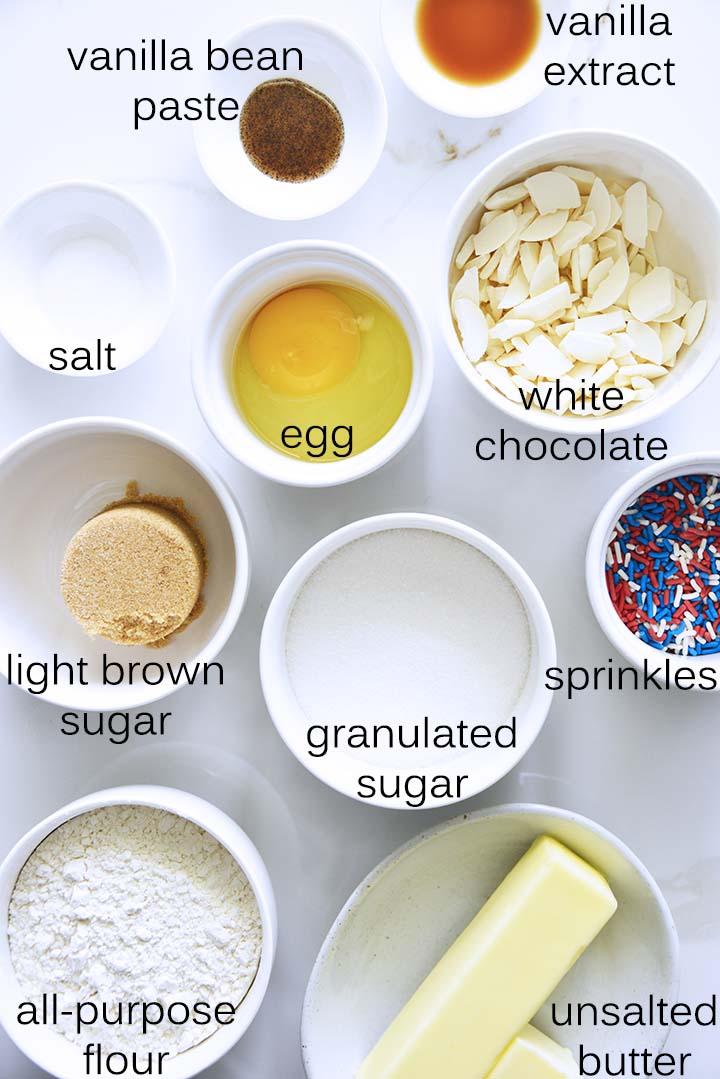 Patriotic Blondies Ingredients