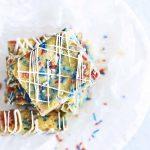 Patriotic Blondies Recipe on White Plate