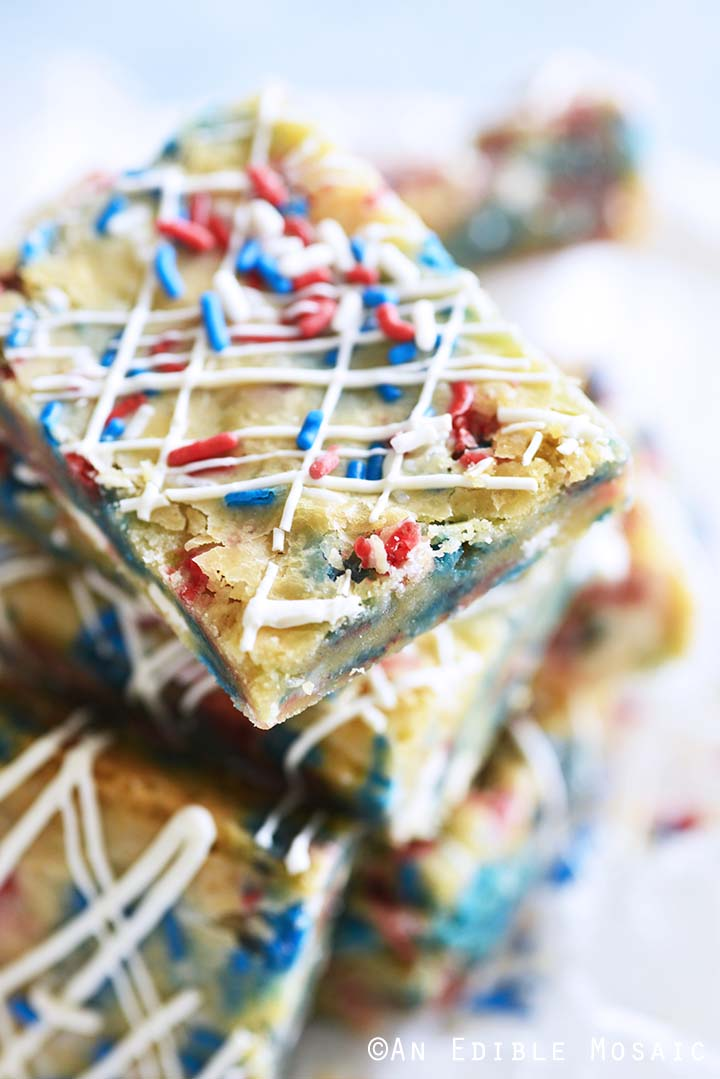 Red White and Blue Blondies Recipe