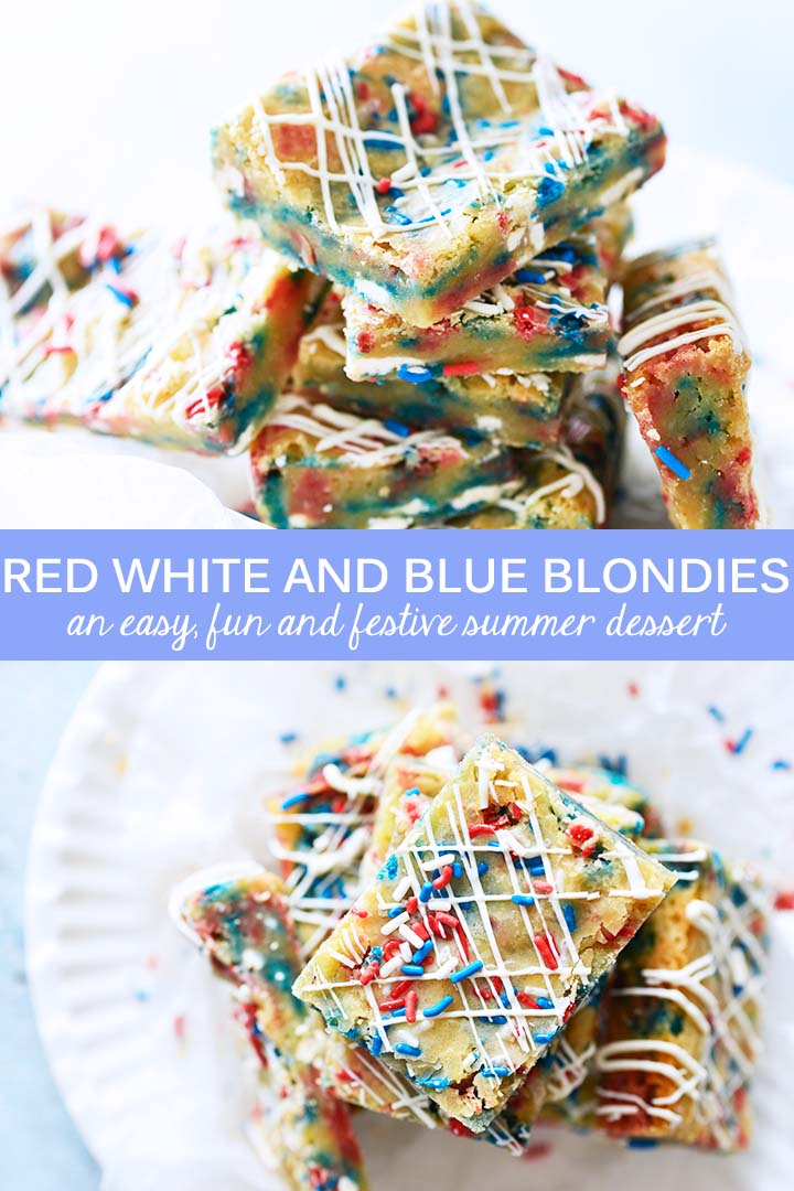 Red White and Blue Bondies Recipe Pin