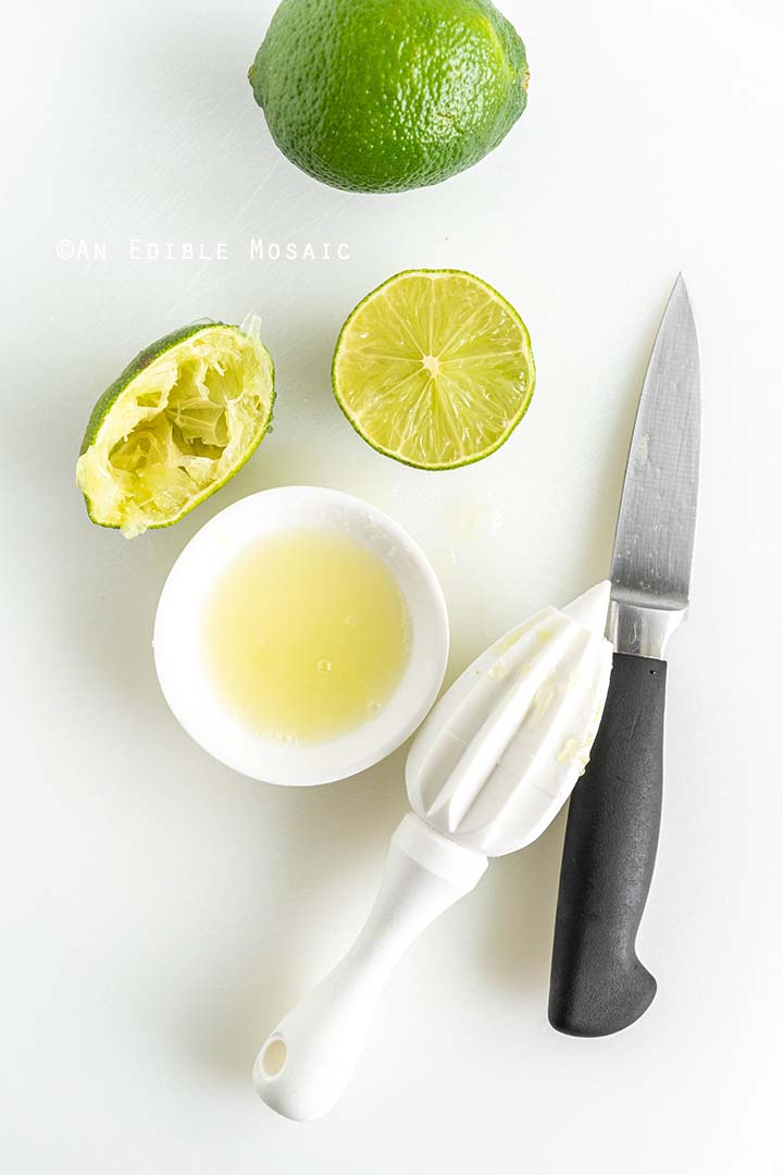 Squeezing Fresh Lime Juice