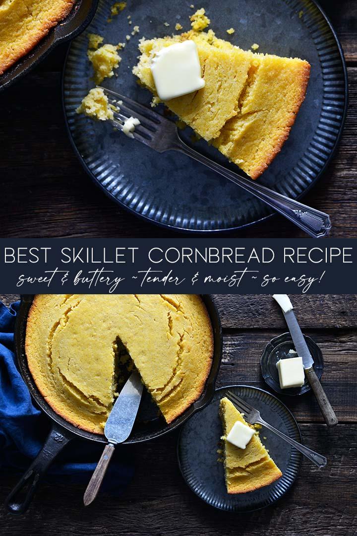 Best Skillet Cornbread Recipe Pin