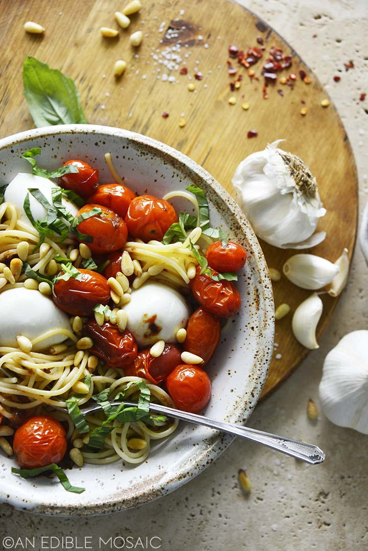 Roasted Tomatoes with Pasta