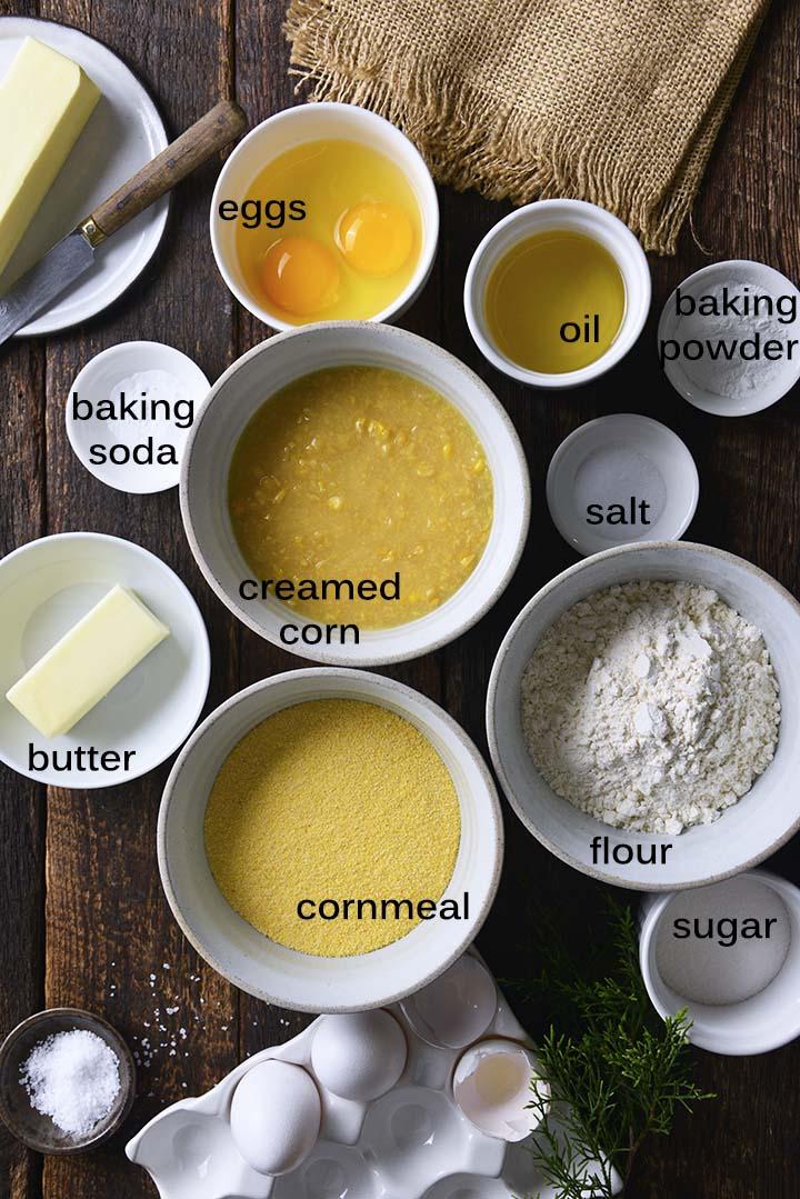 Skillet Cornbread Ingredients