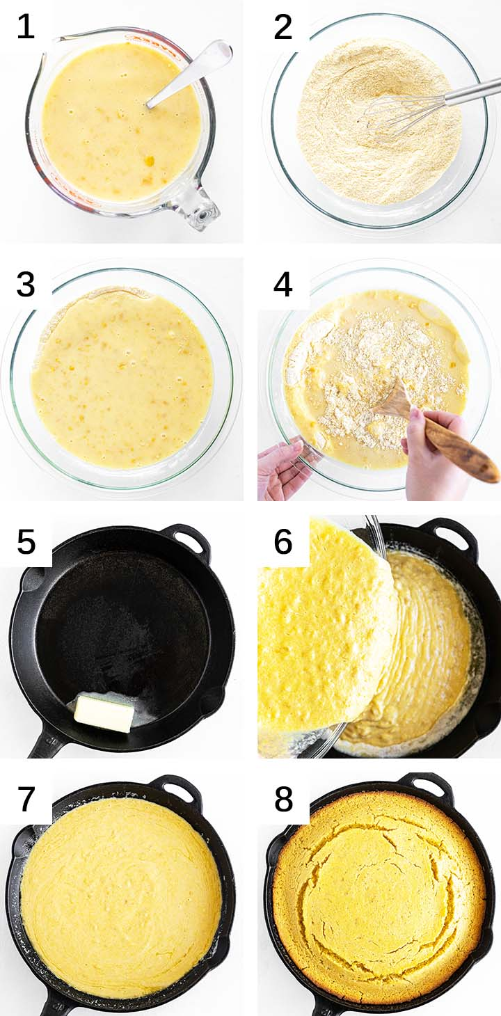 how to make skillet cornbread from scratch