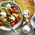 roasted tomatoes with pasta featured image