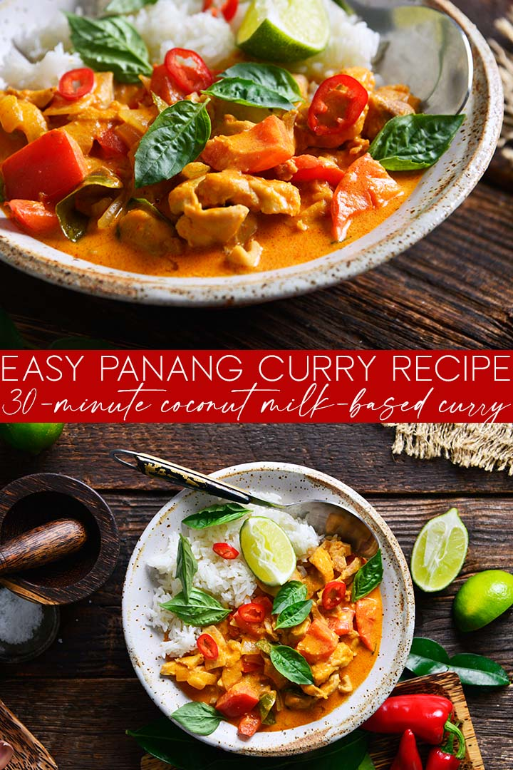 Easy Panang Curry Recipe Pin