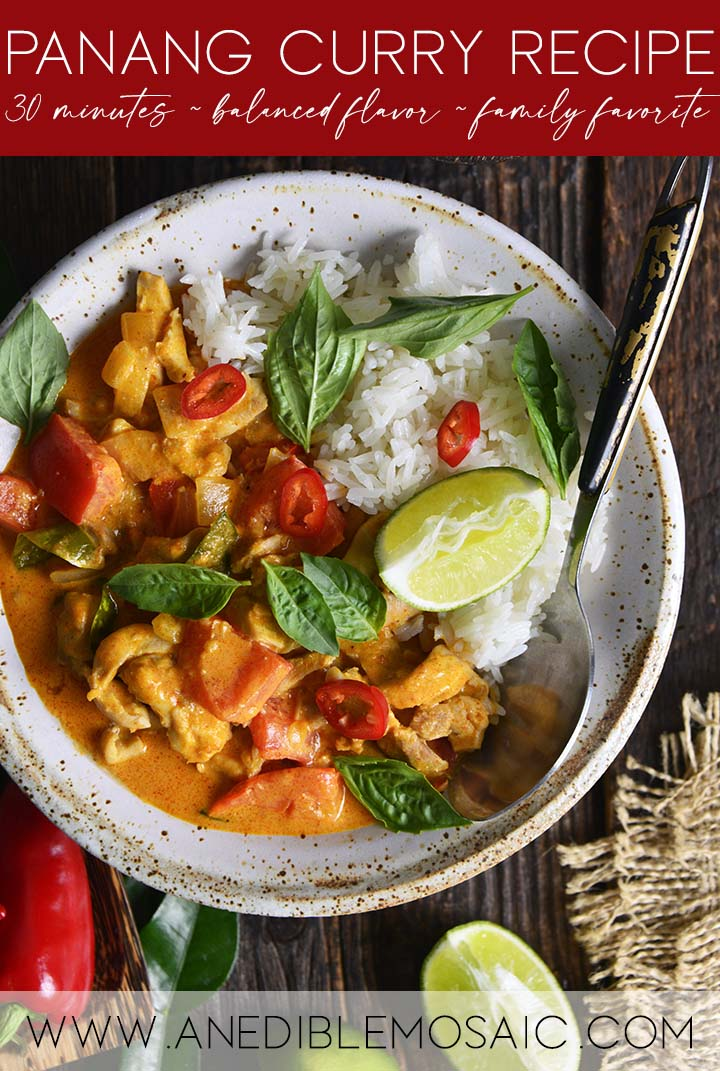 Panang Curry Recipe Graphic