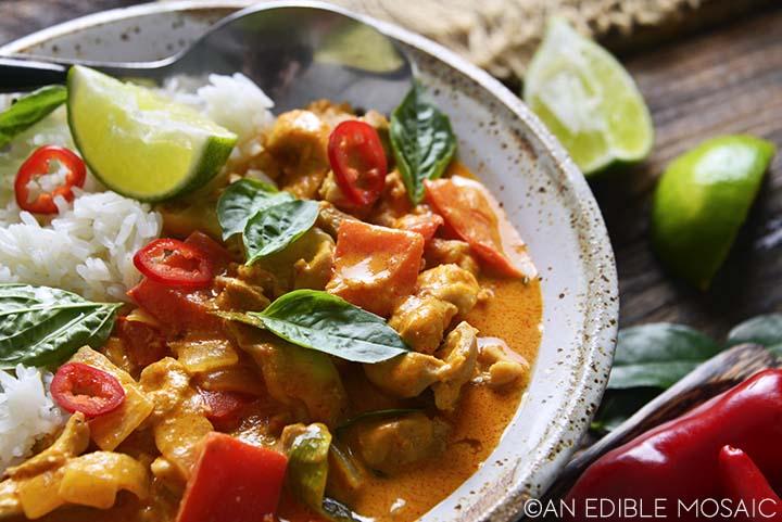Close Up of Penang Curry