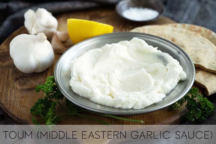 Toum Middle Eastern Garlic Sauce with Description