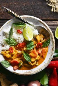 chicken panang curry featured image