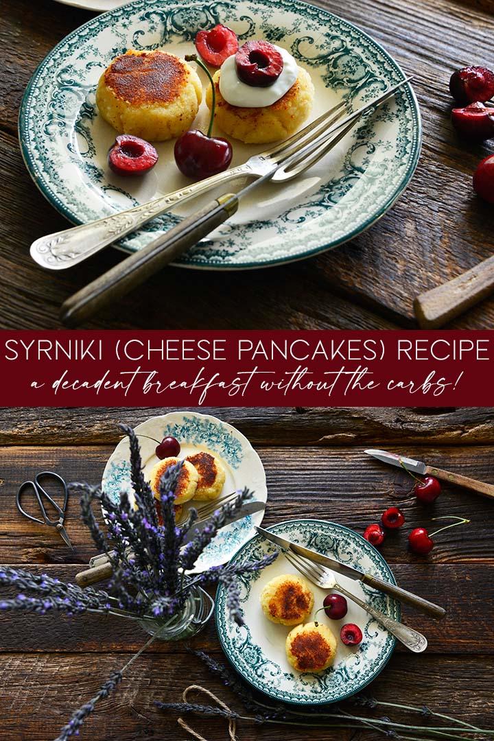 syrniki cheese pancakes recipe pin