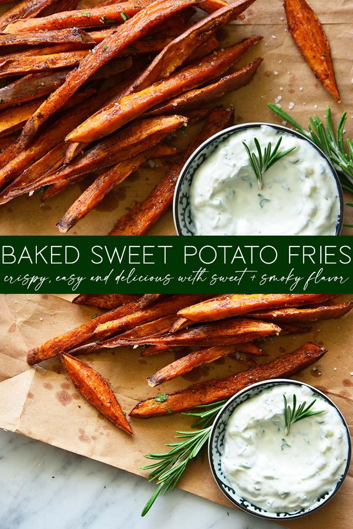 baked sweet potato fries recipe pin
