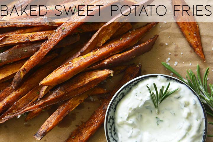 baked sweet potato fries with description