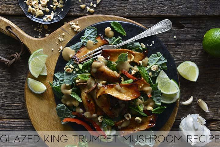 glazed king trumpet mushroom recipe with description