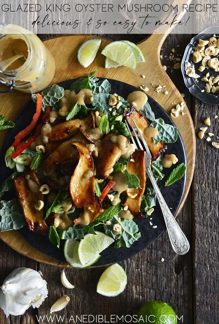 mushroom kale salad graphic