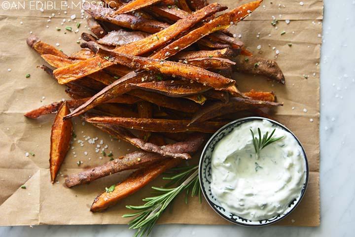 roasted sweet potato fries recipe