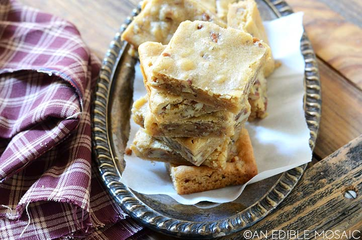 easy butterbeer brown butter blondie recipe