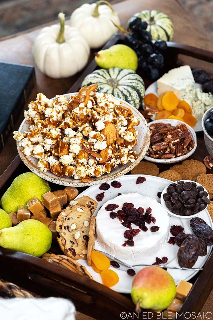 fall movie snack board