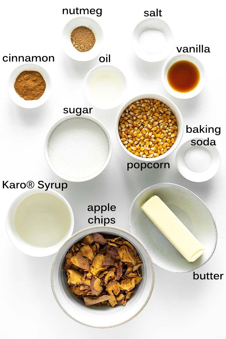 homemade apple caramel popcorn ingredients
