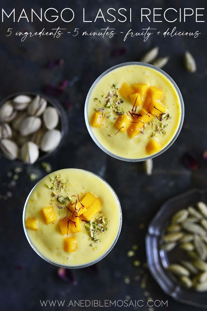 mango lassi recipe graphic