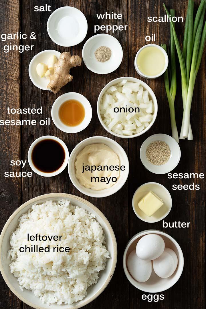 japanese fried rice ingredients