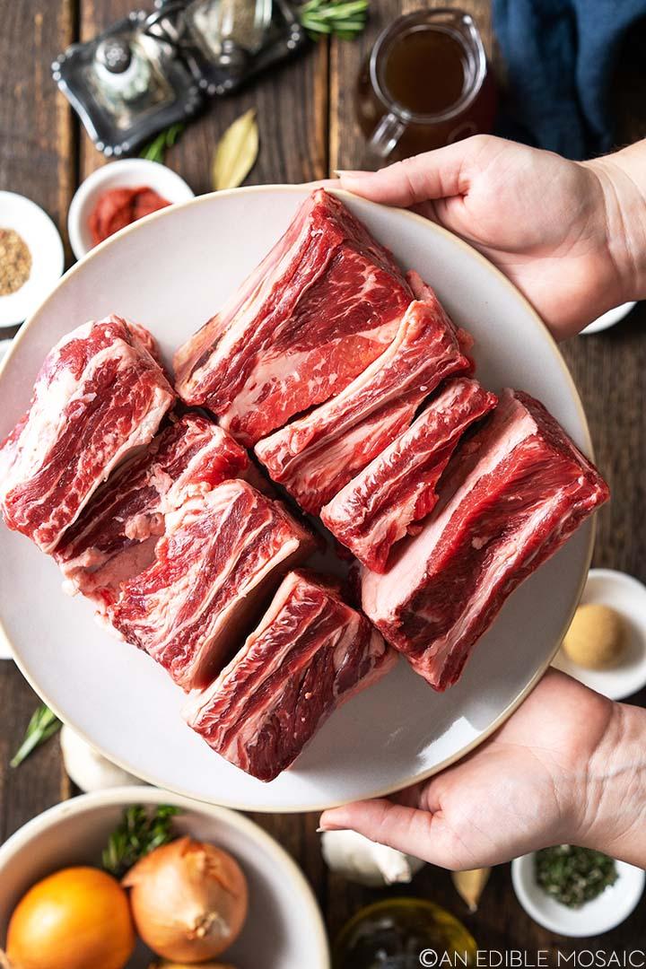 raw beef short ribs