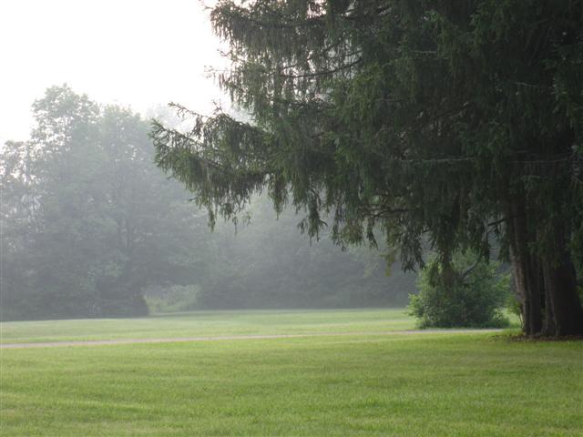 Fog Rolling In As We Left