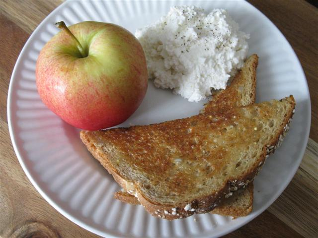 A Slice of 12 Grain Toast as Part of a Healthy Breakfast ;)