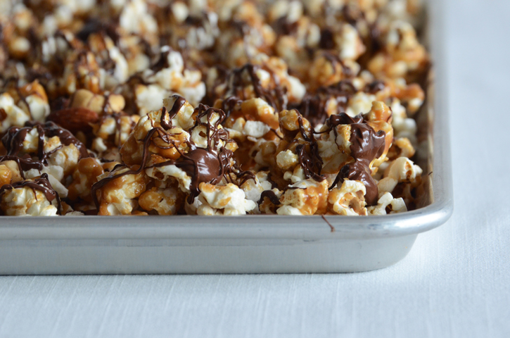 Salted Butter Toffee Popcorn with Dark Chocolate and Toasted Almonds ...