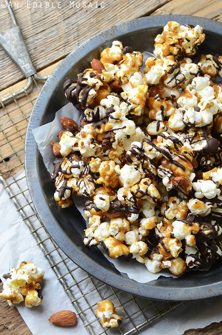 ... Butter Toffee Popcorn with Dark Chocolate and Toasted Almonds Recipe