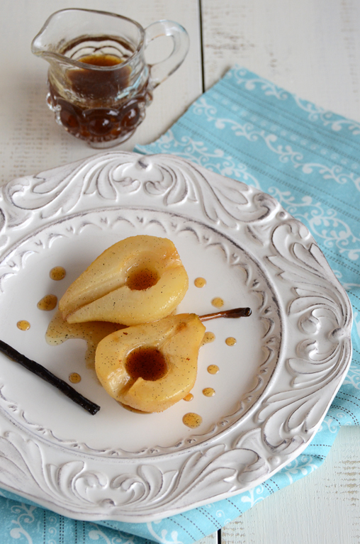 Vanilla Roasted Pears & Some Exciting News