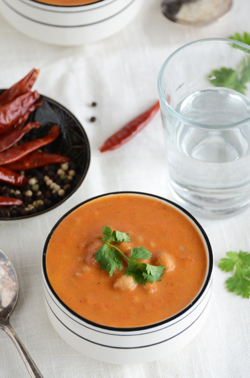 Indian-Spiced Tomato Lentil Soup With Basil Yogurt Drizzle ...