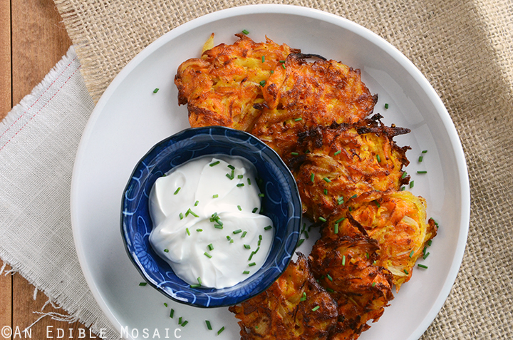 Carrot-Apple Latkes Recipe