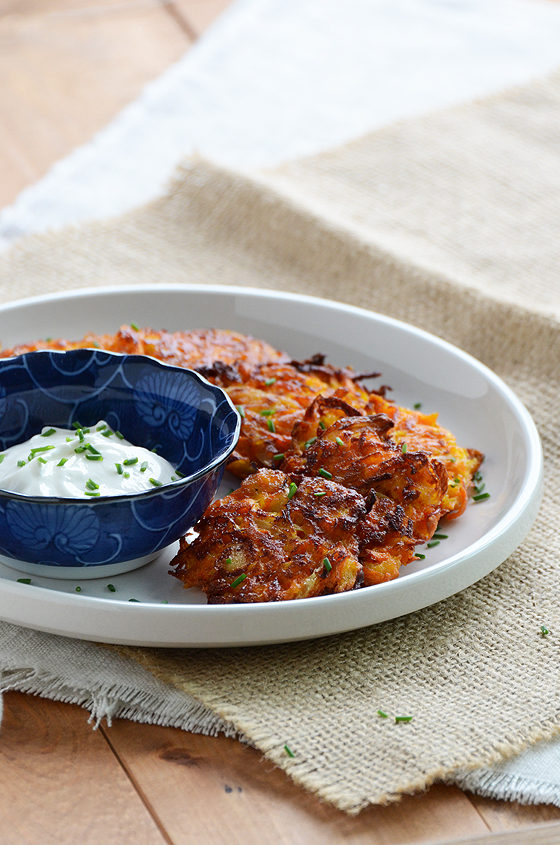 Carrot-Apple Latkes