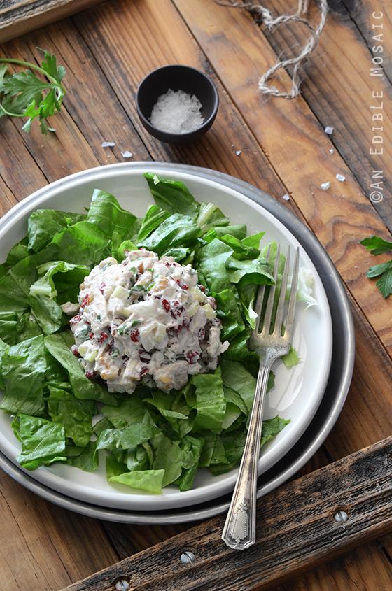 Creamy Cranberry-Walnut Chicken Salad