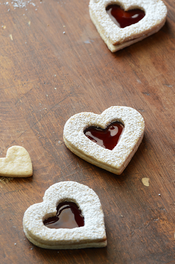 Pecan Linzer Cookies with Cherry Filling