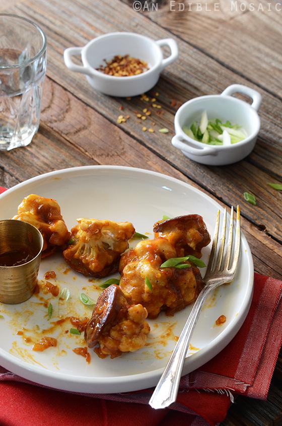 Healthier Roasted Gobi Manchurian (Cauliflower in a Spicy Sauce)