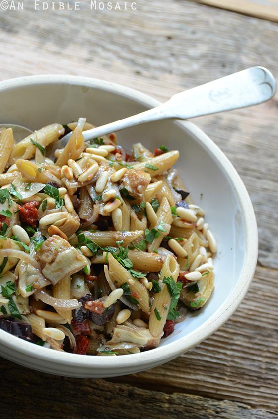 Mediterranean Pasta Salad {Vegan}