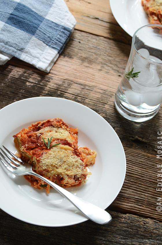 An Edible Mosaic™ » No-Noodle Zucchini Lasagna {Vegetarian; Lactose ...