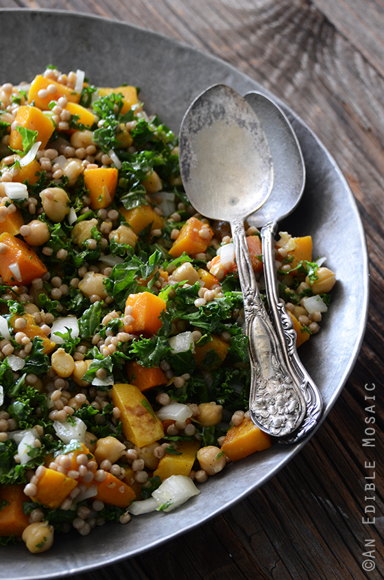 Roasted Butternut Squash Salad with Chickpeas, Kale, and Pearl ...