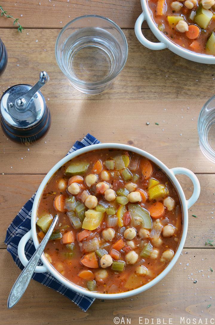 chickpea garden vegetable soup recipe