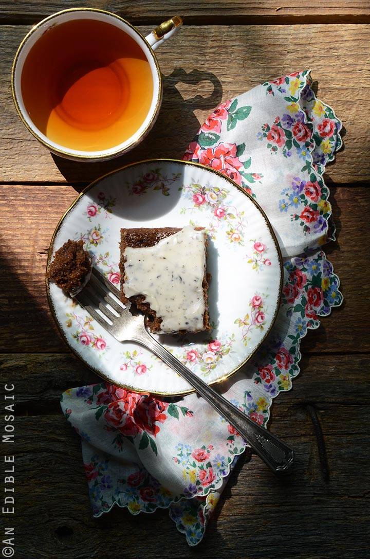 Gingerbread Snack Cake with Earl Grey Glaze is full of Christmas-y ...