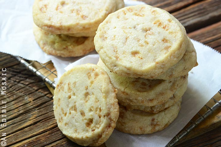 Slice and Bake Butter Toffee Shortbread Cookies Recipe