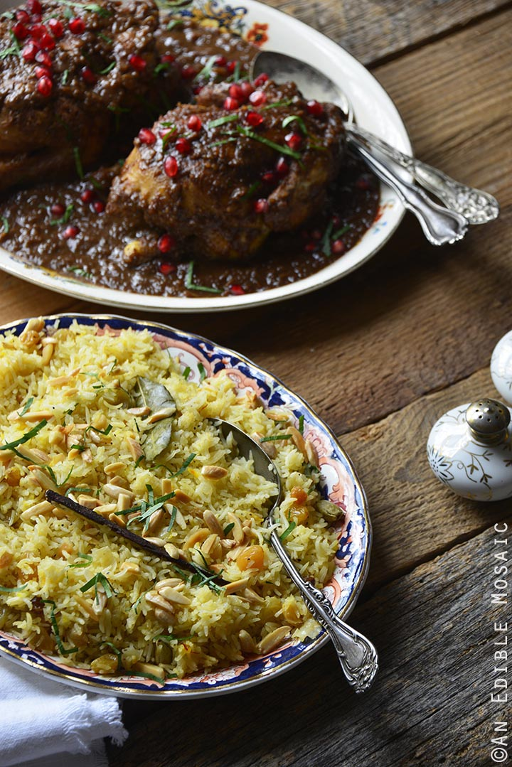 Orange and Toasted Almond Saffron Rice Pilaf with Golden ...